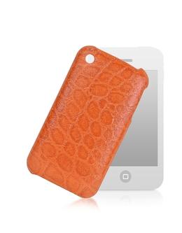 Чехол для iPhone из Кожи под Крокодиловую Giorgio Fedon 1919 P-IPHONE(9)CROCO Arancio 90007250912