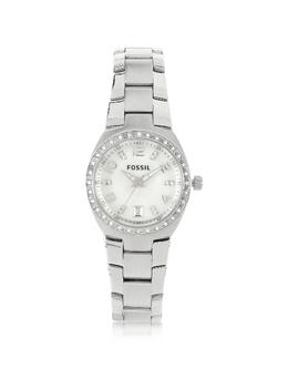 Женские Часы из Нержавеющей Стали с Кристаллами Fossil AM4141