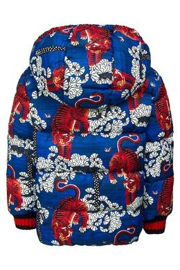 Куртка с принтом Gucci Kids 125656259