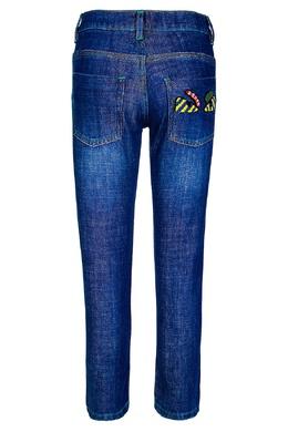 Однотонные джинсы Fendi Kids 69056252
