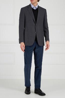 Серый шерстяной пиджак Canali 179366661