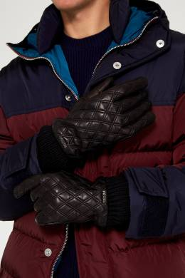 Стеганые перчатки из кожи Prada 4062049