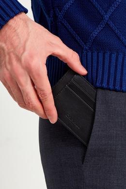 Черный кожаный чехол для карт Canali 179374122