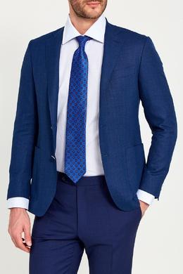 Шелковый галстук с точками Canali 179374242