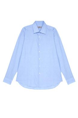 Голубая сорочка из хлопка Canali 179369502