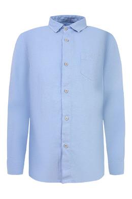Голубая рубашка изо льна Il Gufo 120583336