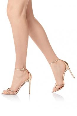 Золотистые босоножки Purist Sandal 105 Aquazzura 97582464