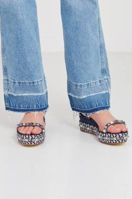 Синие сандалии с шипами Pyraclou 60 Christian Louboutin 10681601