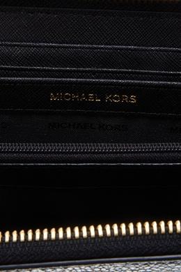 Черный кожаный кошелек Money Pieces MICHAEL Michael Kors 98482180