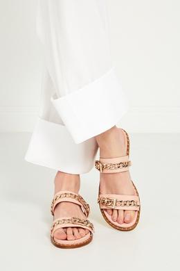 Розовые сандалии с цепочками Meika Ash 679725