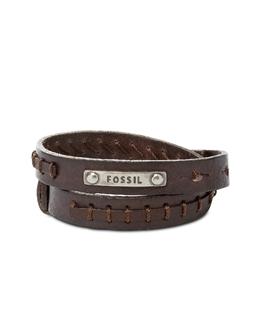 Vintage Casual - Коричневый Мужской Кожаный Браслет Fossil JF87354040