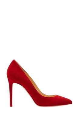 Красные замшевые туфли Pigalle 100 Christian Louboutin 10685357