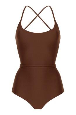 Слитный коричневый купальник Concepcion Bodypoetry 181083250