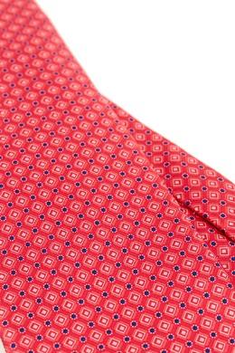 Розовый галстук с узором Canali 179387040