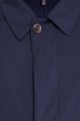 Синий плащ Canali 179387021