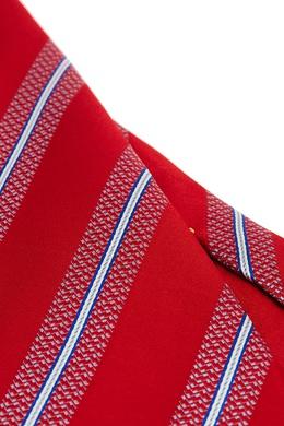 Красный галстук в полоску Canali 179387047