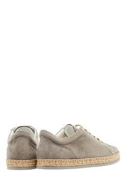 Замшевые ботинки с плетеной отделкой Kiton 167187201