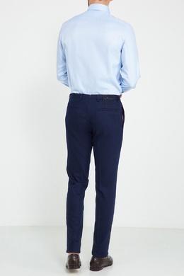 Шерстяные брюки с декоративными пуговицами Kiton 167187179
