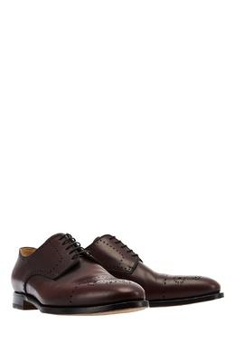 Кожаные ботинки с перфорацией Kiton 167187203