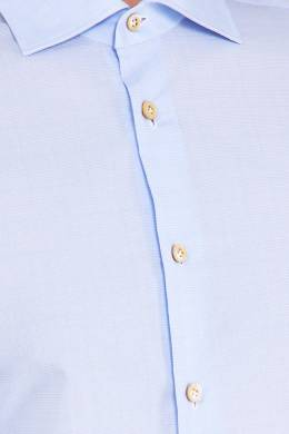 Хлопковая голубая рубашка Kiton 167187168