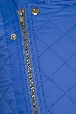 Голубая стеганая куртка на молнии Ralph Lauren Kids 125287332