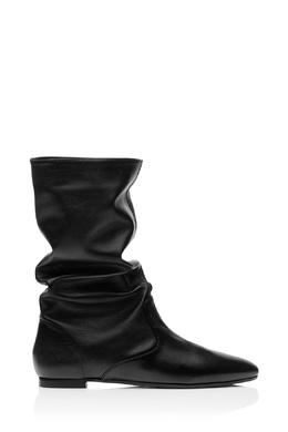 Черные кожаные полусапоги Touche' Bootie flat Aquazzura 97592464