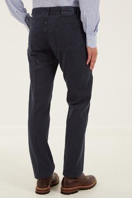 Укороченные синие джинсы Kiton 167192718