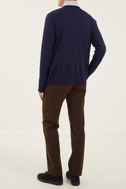 Синий пуловер с кашемиром и шелком Kiton 167192713