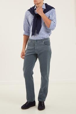 Бирюзовые джинсы Kiton 167192720