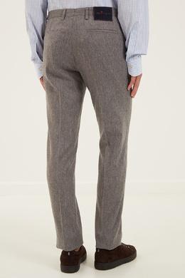 Зауженные серые брюки Kiton 167192719
