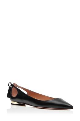Черные балетки с завязками Marilyn Flat Aquazzura 97592436