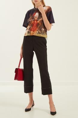 Шерстяные брюки с блестящей отделкой No. 21 3591616