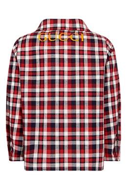 Рубашка в клетку Gucci Kids 125694382