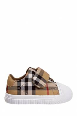 Кеды в клетку Burberry Kids 125395317