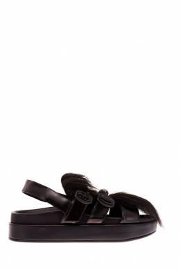Черные сандалии с фактурной отделкой Simone Rocha 25097189