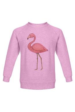Розовый свитшот с фламинго Lisa&Leo 1665100453
