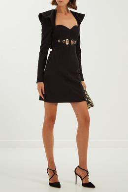 Черное платье с люверсами Self-portrait 53295549