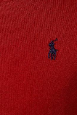 Красный лонгслив Ralph Lauren Kids 125295693
