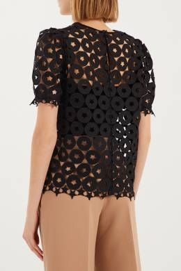 Черная ажурная блузка No. 21 3599775