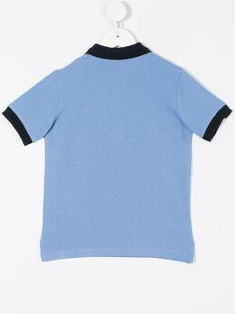 Moncler Kids - рубашка-поло с контрастной отделкой 38568556990655509000