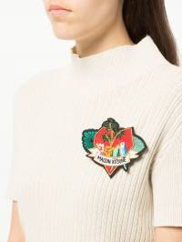 Maison Kitsuné - брошь Love Blazon 6565AS93699093399600