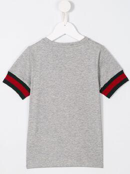 Gucci Kids - футболка с контрастными манжетами 'Web' 690X5399998590980000