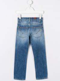 Dondup Kids - faded slim-fit jeans A863DS963BS930938390