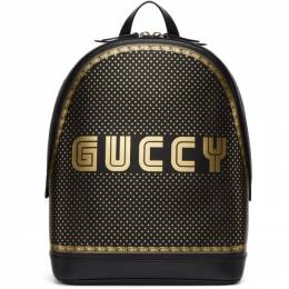 Gucci Black and Gold Guccy Magnetismo Backpack 419584 DVU7N