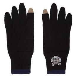 Kenzo Black Tiger Crest Gloves 182387M13500301GB