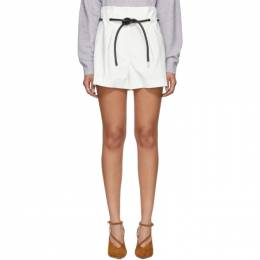 3.1 Phillip Lim White Origami Pleated Shorts 191283F08800204GB