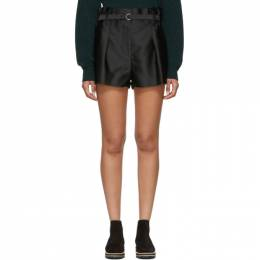 3.1 Phillip Lim Black Origami Shorts 191283F08800401GB