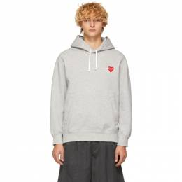 Comme Des Garcons Play Grey Heart Patch Hoodie 191246M20200203GB