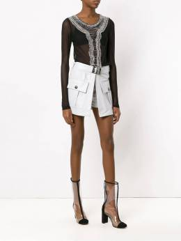 Andrea Bogosian - leather skirt with pockets 69993695533000000000