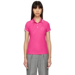 Moncler Pink Logo Polo 191111F10800401GB